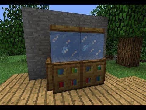 how to make a aquarium in minecraft minecraft aquarium tutorial how to build aquarium. Black Bedroom Furniture Sets. Home Design Ideas