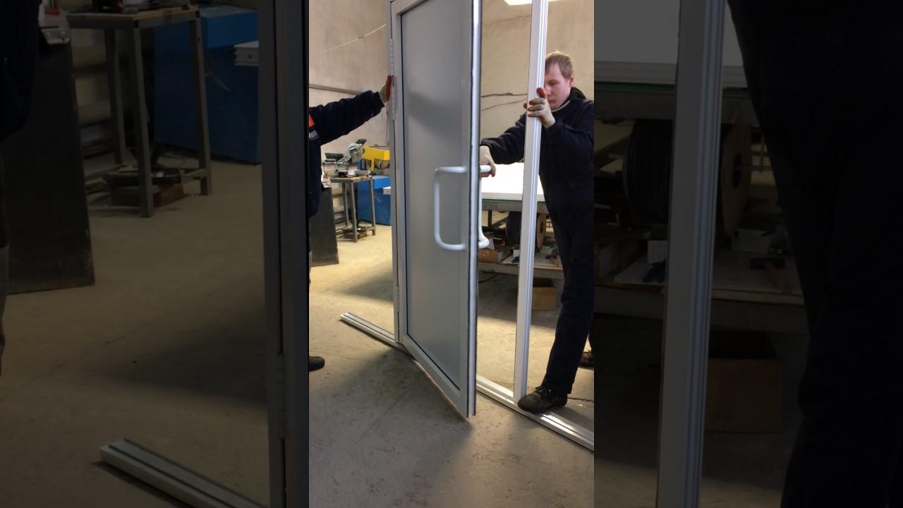 Маятниковая дверь от компании Евро-Дом