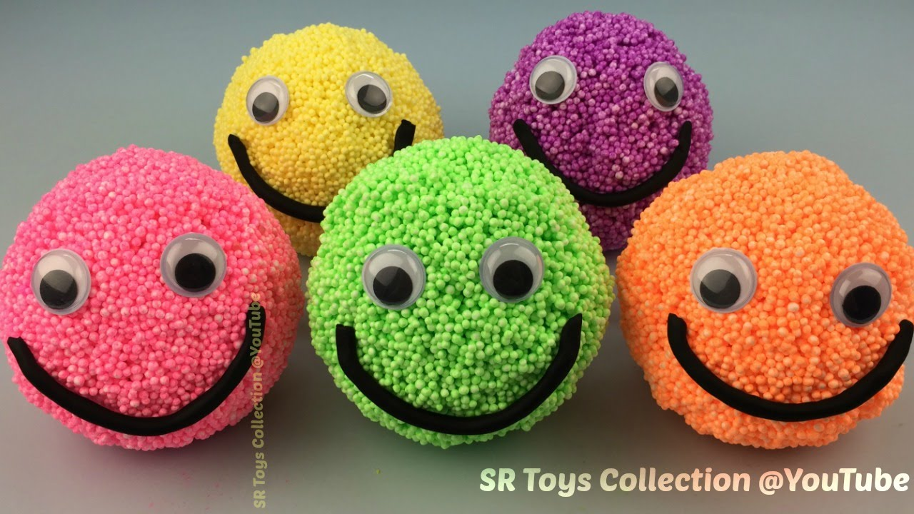 Foam Clay Smiley Face Surprise Eggs Shopkins Disney Inside Out The Good Dinosaur TMNT Toys for Kids
