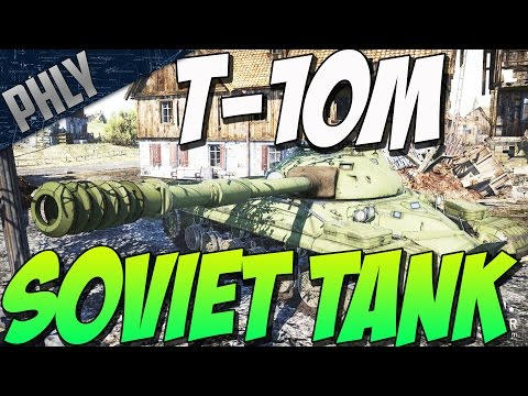 War Thunder Tanks  - New Soviet Tank T-10m / IS-8 - Glass Cannon?!