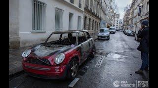 """Акции протестов """"желтых жилетов"""" в Париже"""