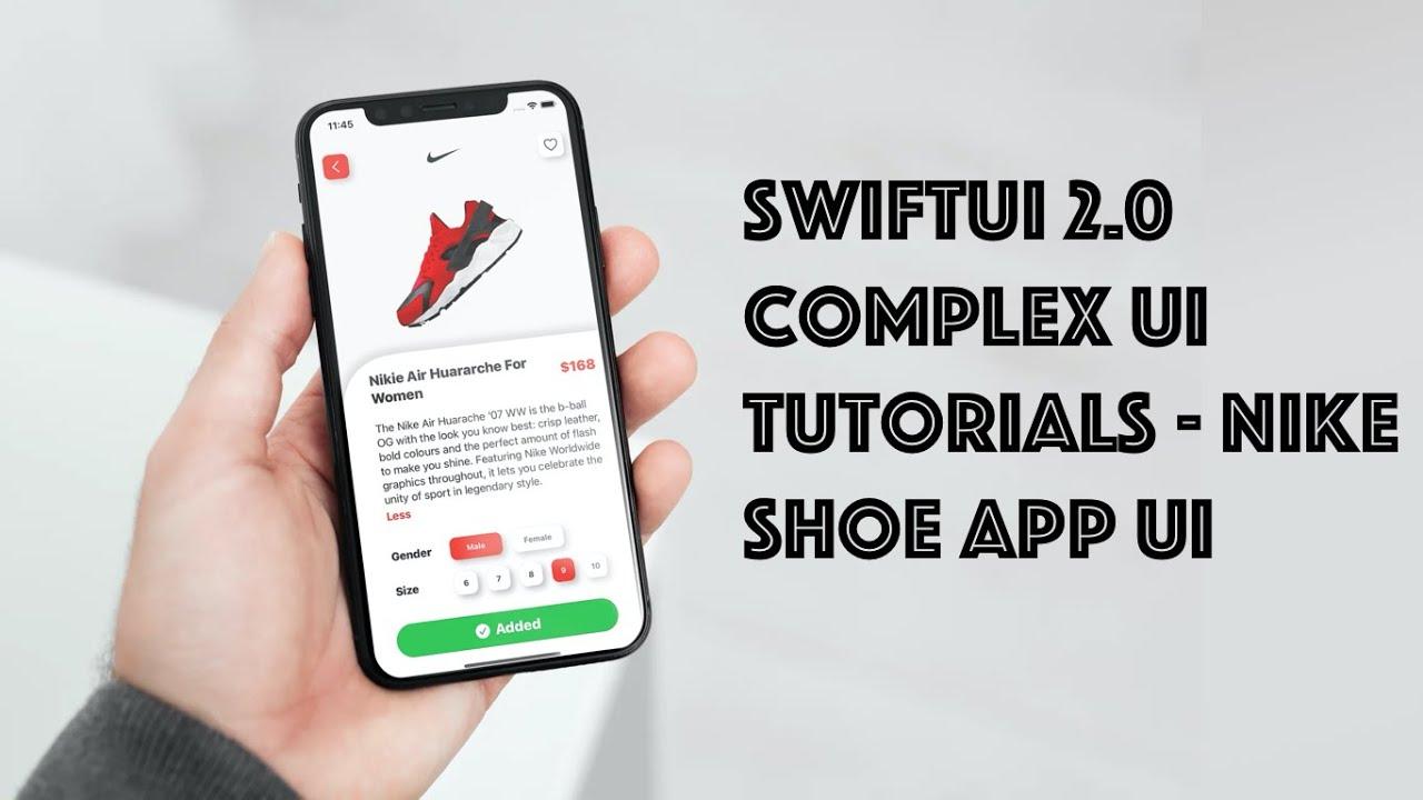 SwiftUI Complex UI Tutorials - Nike Shoe App UI With Animations