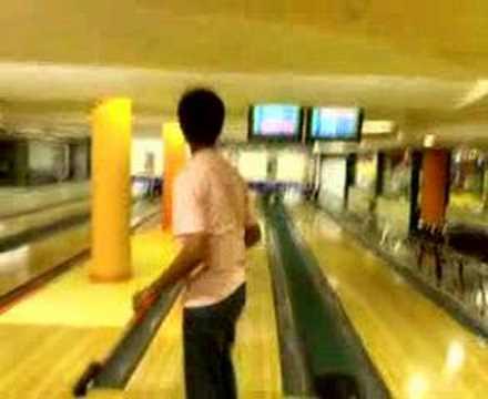 Akshay of union christian bowling