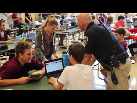 Rocky River Middle School School Resource Officer Matt Blazer