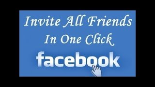 How to Invite ALL Friends to LIKE a page on Facebook AT ONCE 2018 ✔