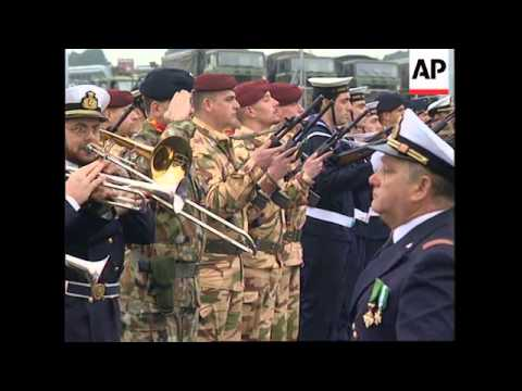 ITALY: ITALIAN TROOPS LEAVE FOR SOMALIA TO ASSIST UN WITHDRAWAL