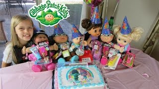 Cabbage Patch Kids+ Cousins+Baby Alive Birthday Party! Troll Cake+Poppy+Branch+presents! Part 2 of 2