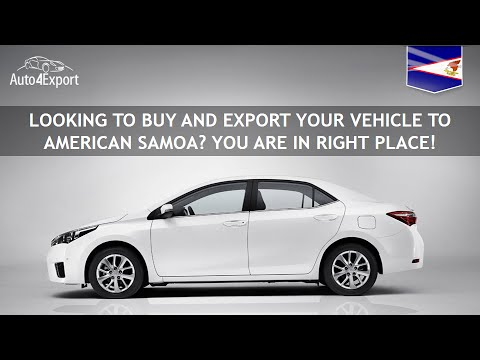 Shipping cars from USA to American Samoa - Auto4Export