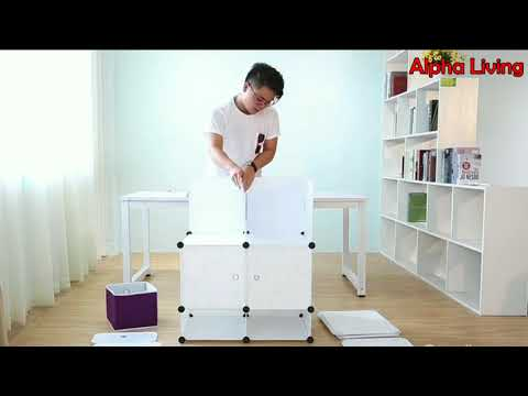How to Install DIY Wardrobe Storage Cubes - Alpha Living