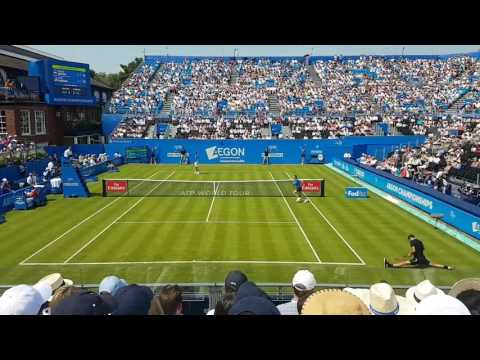 Grigor Dimitrov vs Ryan Harrison 19/06/17 match points Queens club tennis London  Aegon Atp 500