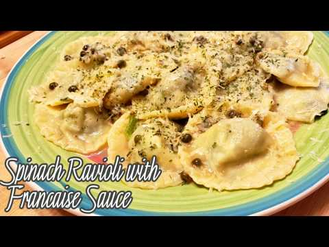 Spinach Ravioli with Francaise Sauce Recipe