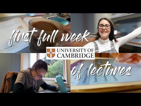 CAMBRIDGE UNIVERSITY VLOG 2 - Lectures and Freshers' Flu Begin