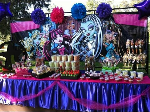 Fiesta de monster high 2017 fiestas infantiles decoracion for Decoracion de mesas para fiestas