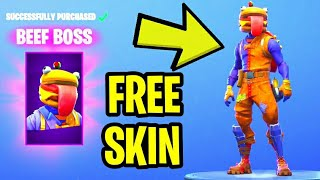 "Fortnite: How To Get ""BEEF BOSS"" Skin For FREE! - Fortnite Durr Burger Skin (NEW Daily Item Shop)"