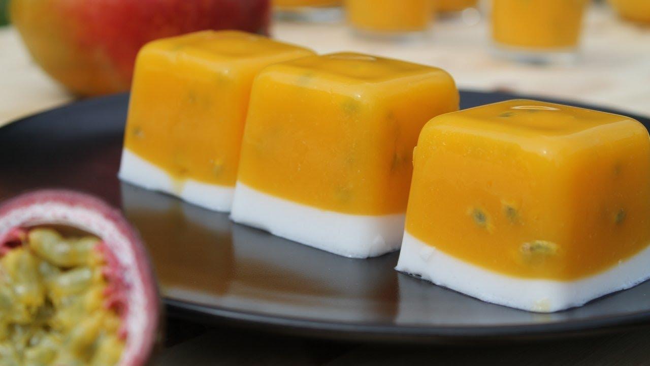 Agar Agar Mangue Fruits De La Passion Coco Cooking With Morgane