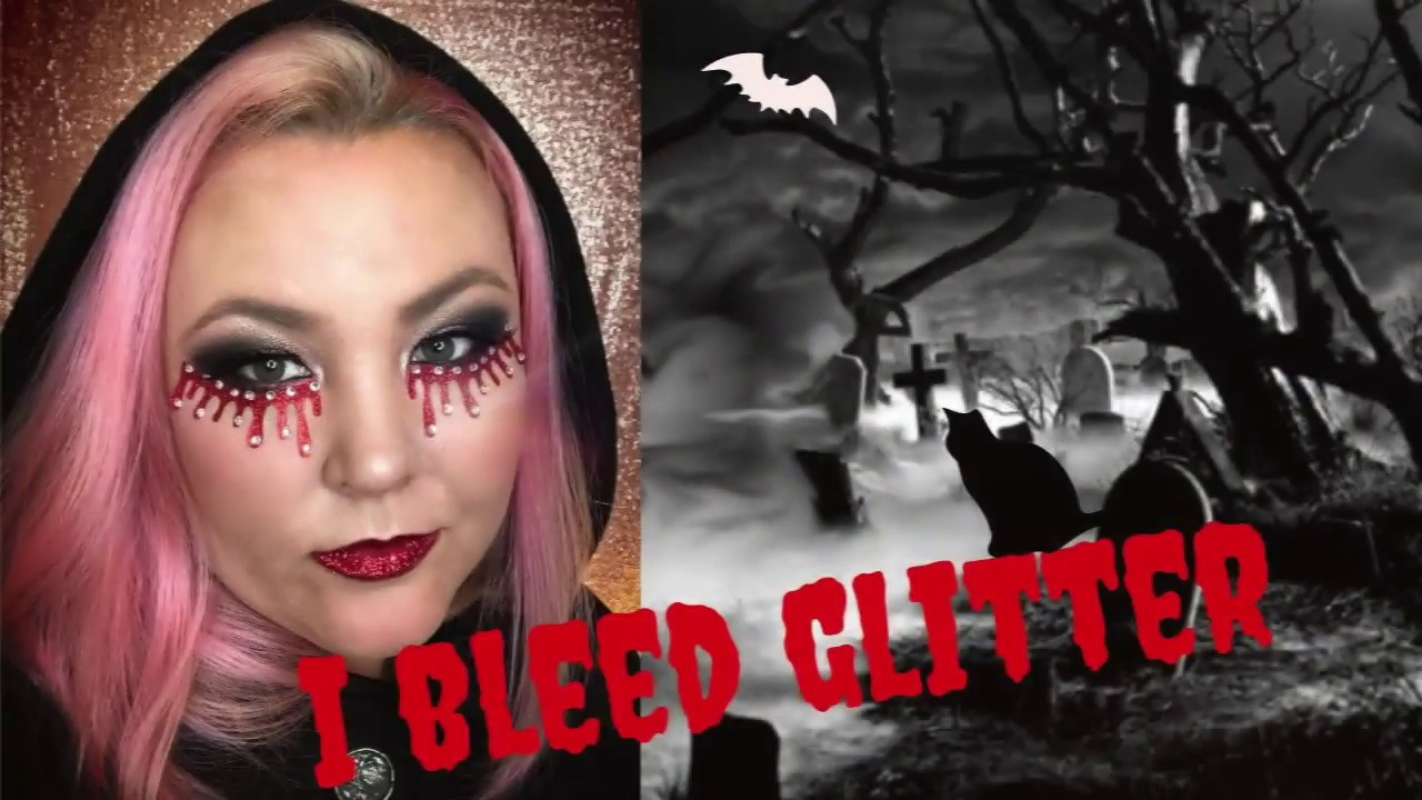 glitter vampire tutorial easy and cheap halloween makeup