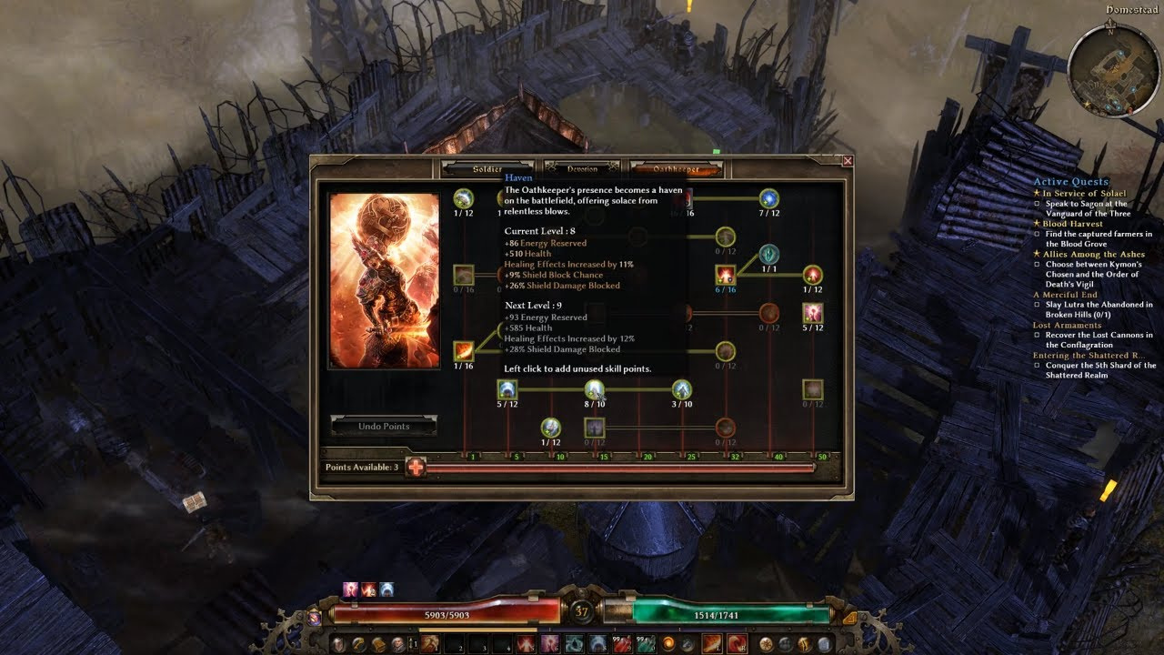 Grim Dawn Forgotten Gods - Oathkeeper class (whirlwind skill) - No  Commentary, RPG games,