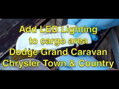 Add LED lighting to cargo area Dodge Grand Caravan Chrysler Town and Country