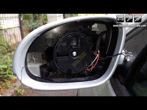 Replace wing heated mirror glass Volkswagen GLI year 2005-2011