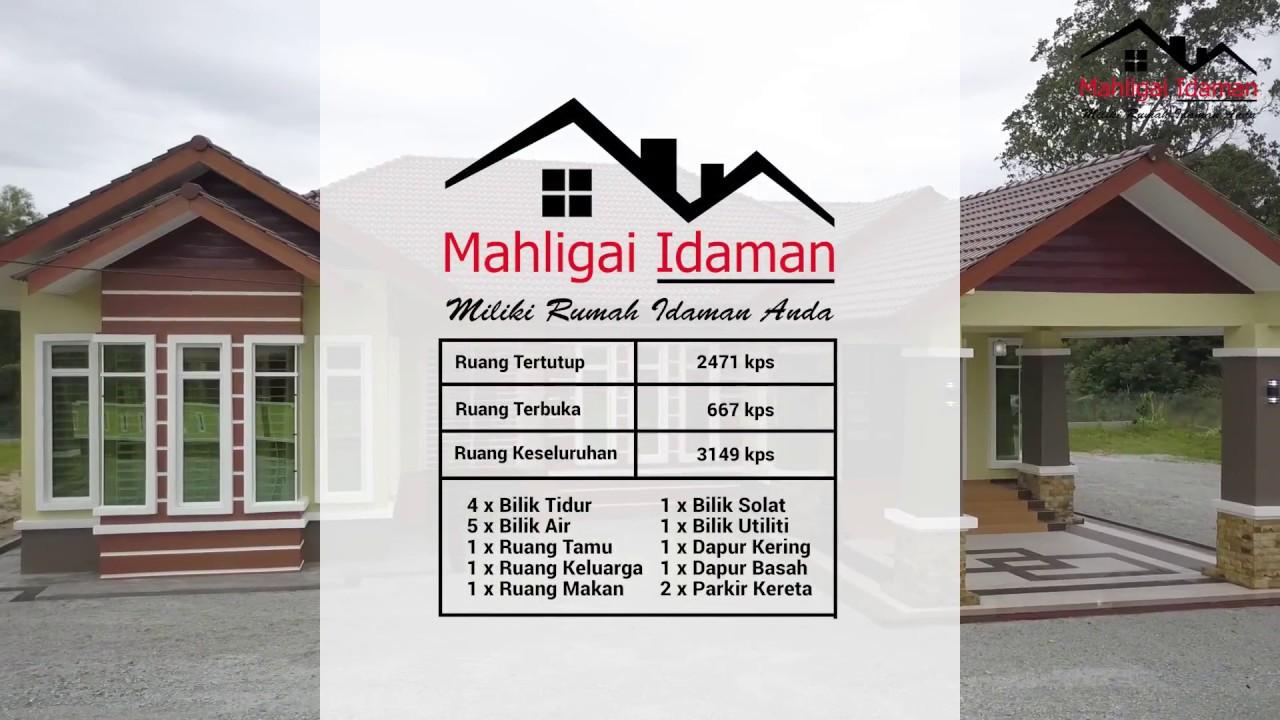 Rumah Banglo 4 Bilik 5 Air Keluasan 3149kps