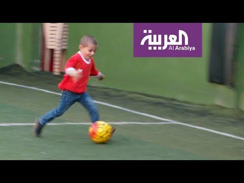 طفل لبناني مصاب بالسرطان يلتقي نجوم ريال مدريد الاسباني