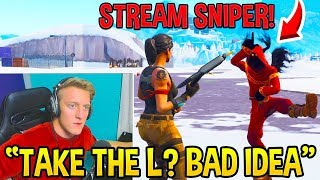 Why You Should NEVER Stream Snipe TFUE in SQUAD SCRIMS! - Fortnite FUNNY Moments