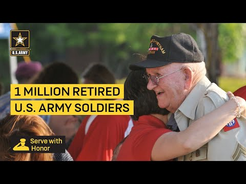 1 Million Retired U.S. Army Soldiers