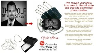 Personalized Custom Tag with your Photo & Text pendant 2 sided Forex
