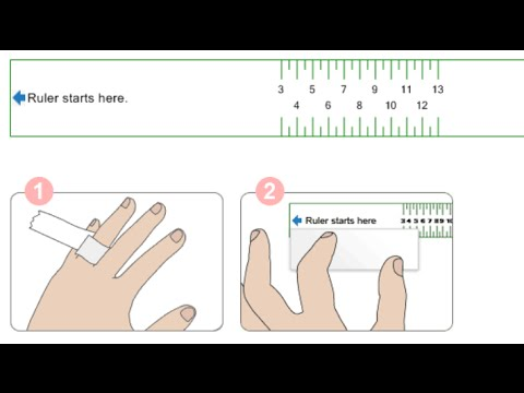 كيف تحددي مقياس الخاتم المناسب لأصابعك طرق قياس الخواتم والأصابع Youtube