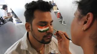 veridic technologies pvt ltd indian flag face painting competition 2