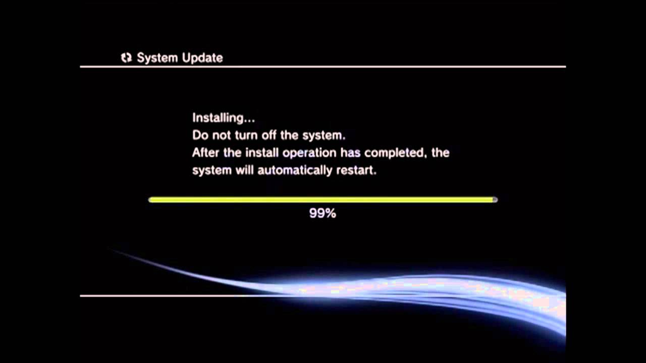 Ps3 not updating software