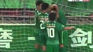 Beijing FC Guo'an Xu Liang scores 62-meter goal