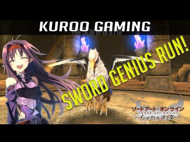 SWORD GENIUS RUN! - Floor 11 Boss SOLO - The Storm Griffin - [SAO Integral Factor]