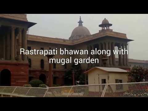 Rastrapati Bhawan (President House) India and Beautiful Mugal Garden