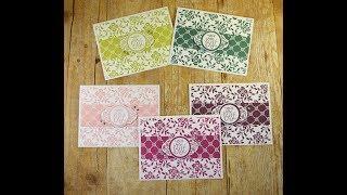 جميلة الأزهار اليدوية بطاقات باستخدام Stampin حتى التسمية لي جدا مجموعة الطوابع و لكمة