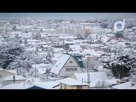 Punta Arenas bajo la nieve