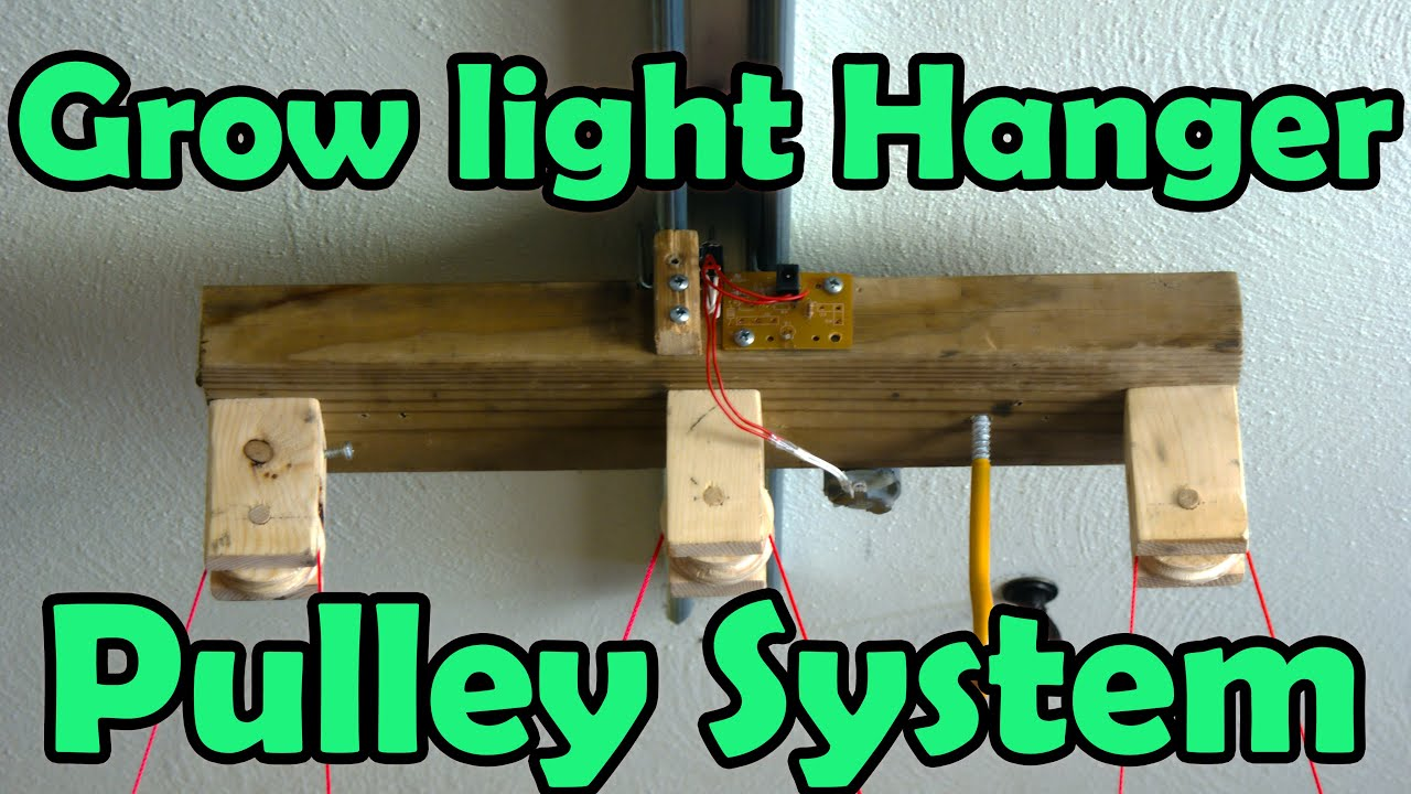 Grow Light Hanger Pulley System - YouTube