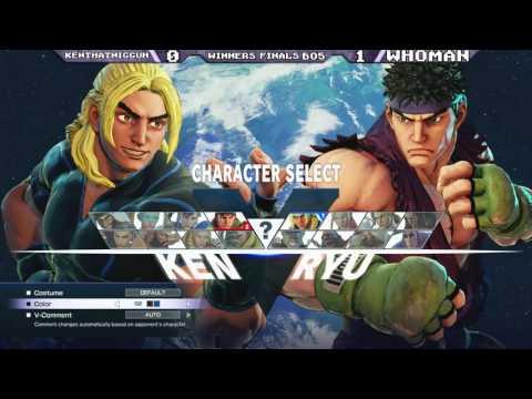 Rush Punch 3: KenthatNigguh (Ken) Ryu vs WhoMan (Cammy/FANG)
