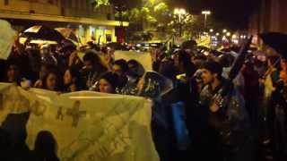 Início dos protestos #VemPraRua em Porto Alegre - Av. Borges de Medeiros