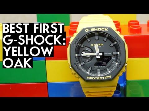 """NEW """"CASIOAK"""" Colors! Full Review Of The GA-2110 Yellow G-Shock"""