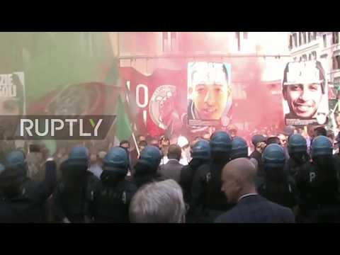 Italy: Police clash with CasaPound activists as far-right crowd tries to storm Senate