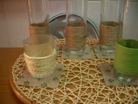 Como Decorar Botellas De Vidrio Para Lamparas