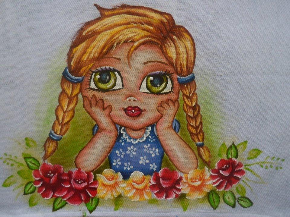 Como pintar bonequinha com tran as youtube - Pintura en tela motivos navidenos ...