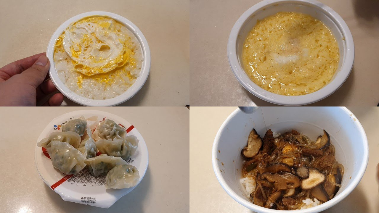 햇반과 전자레인지로 만드는 4가지 음식
