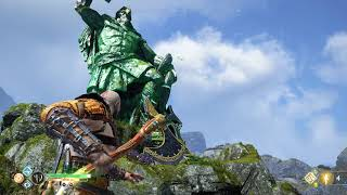 God of War 4 - Thor Quest (Destroying Thor's Statue) God of War 2018 PS4 Pro