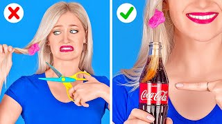 COOL TRICKS AND HACKS YOU NEED TO TRY || Hacks For Smart Girls by 123 GO!