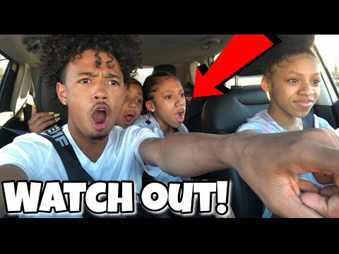 TEACHING MY 14 YEAR OLD TWIN SISTERS HOW TO DRIVE!!! (We Almost Crashed)