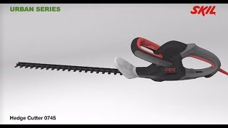 Skil 0745 hedge cutter has powerful 450 Watt motor and unique Grip Cut feature