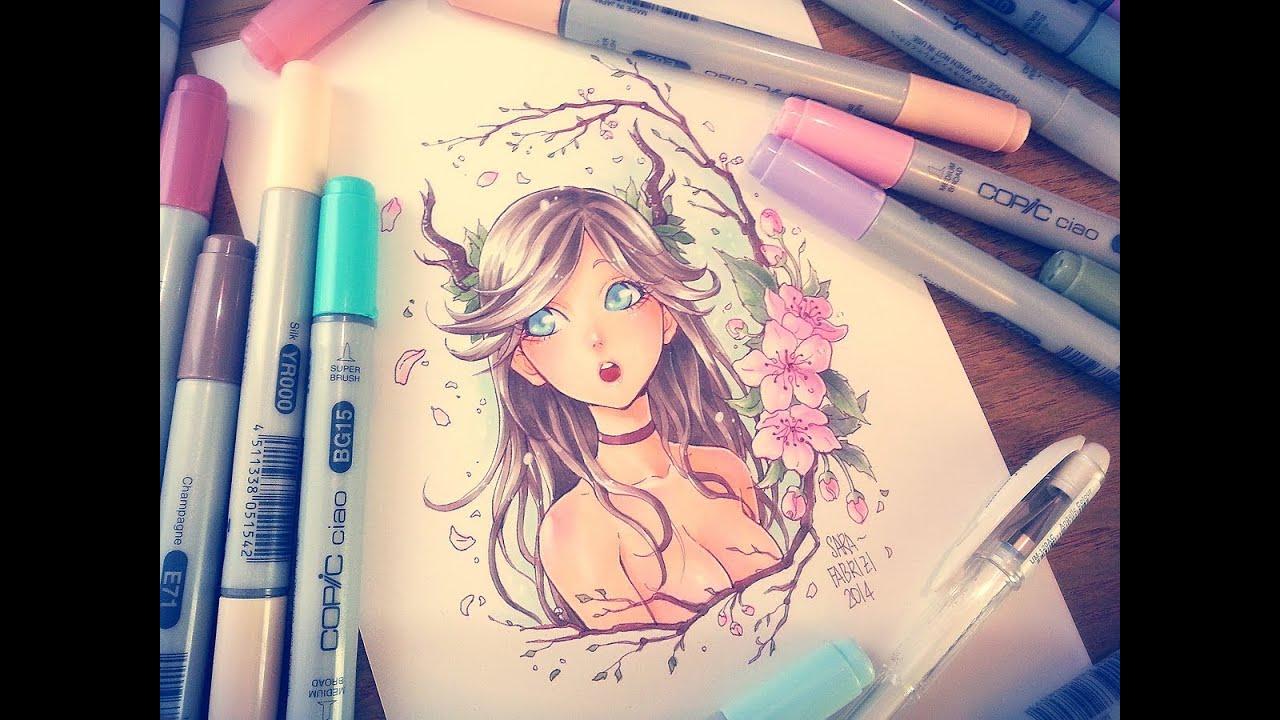 ☆ [DEER GIRL] - Copic Coloring - YouTube