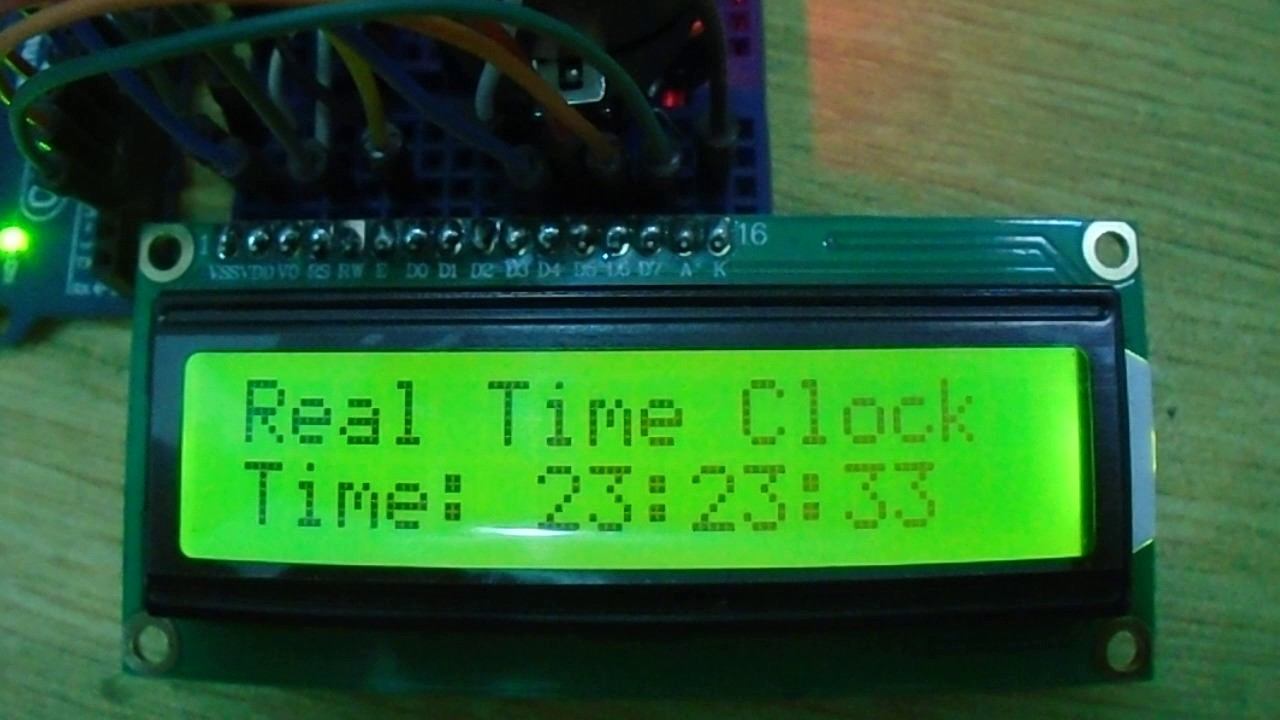 Arduino Real time clock (RTC) and Temperature Monitor using DS3231